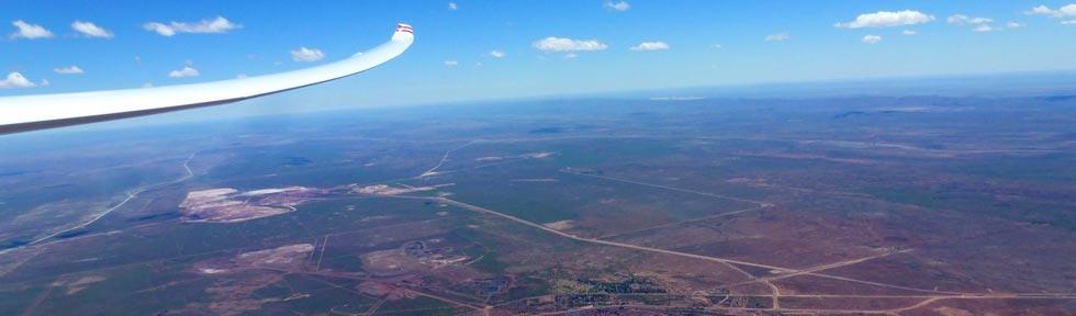 Segelfliegen über der Kalahari